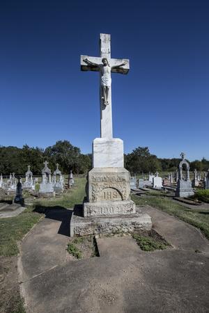 Cemetery stone cross Editorial