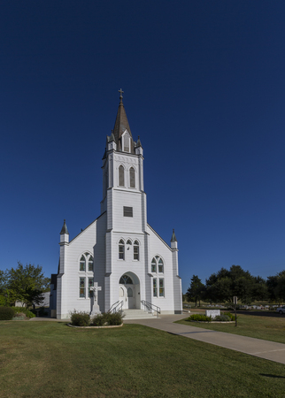 Old Texas wooden church Imagens