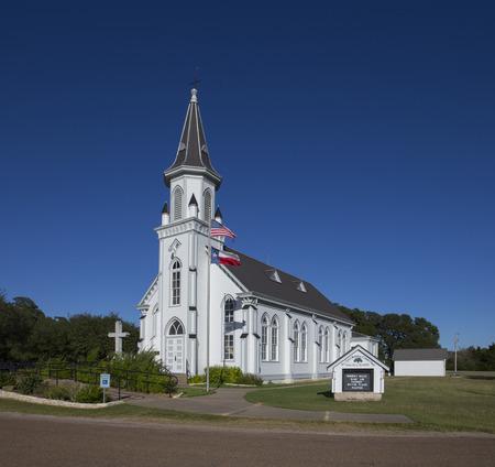 White wooden church in Texas