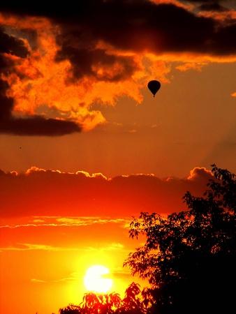 Hot Air Balloon at Sunset