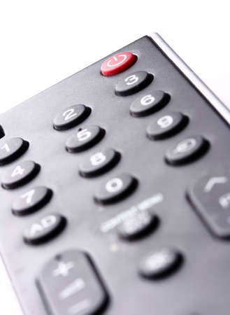 audio video: Remote control for a TV set. Stock Photo