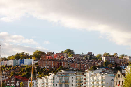 View of Bristol, UK, by the harbour. photo