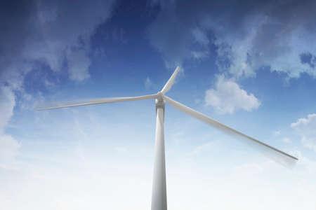 aero generator: Wind turbine rotating