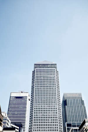 canary wharf: Canary wharf skyscapers in London. Stock Photo
