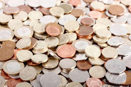 quid: Pile of UK money Stock Photo
