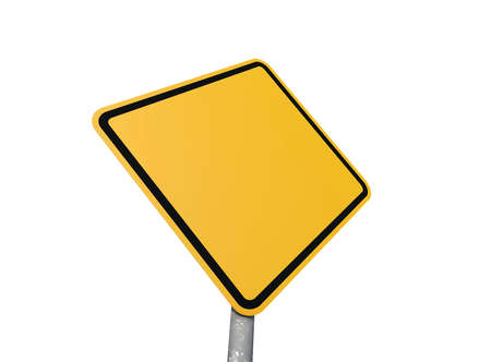heed: Blank road sign with white background