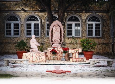 jesus rose: San Antonio Mission Stock Photo