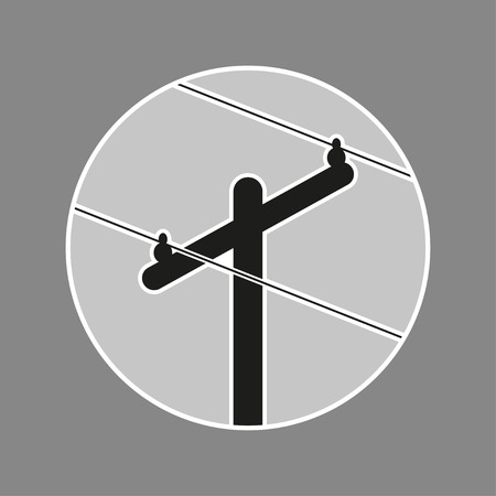 power pole: power pole clean vector design illustration