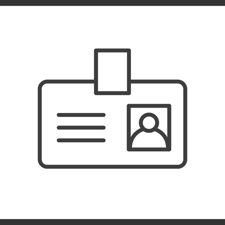 Badge linéaire icône. Passez ligne mince illustration. Vecteur isolé dessin de contour