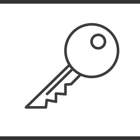 鍵の線形アイコン。細い線の図。ベクトル分離外形図  イラスト・ベクター素材