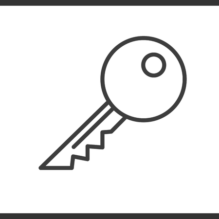 Key linear icon. Thin line illustration. Vector isolated outline drawing Ilustração