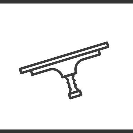 window cleaning: Tool for window cleaning linear icon. Thin line illustration. Vector isolated outline drawing