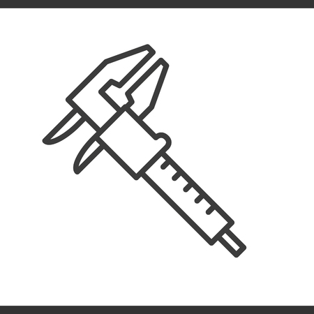 vernier: Caliper options linear icon. Thin line illustration. Vector isolated outline drawing. Illustration