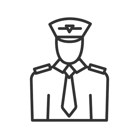 Pilot linear icon. Thin line illustration. Vector isolated outline drawing. Illustration
