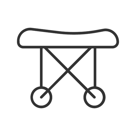 Medical stretchers linear icon. Thin line illustration. Vector isolated outline drawing.