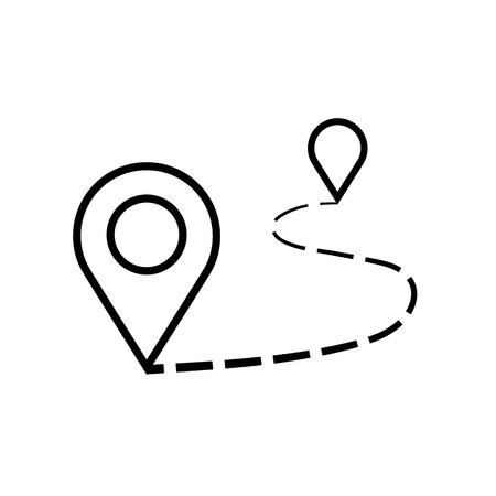Afstand pictogram illustratie geïsoleerde vector teken symbool. Vector Illustratie