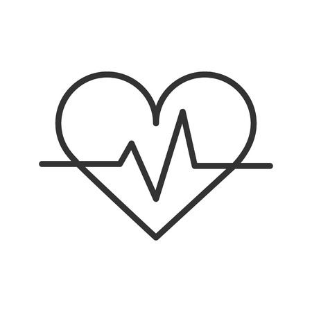 Palpitation linear icon. Thin line illustration. Vector isolated outline drawing.