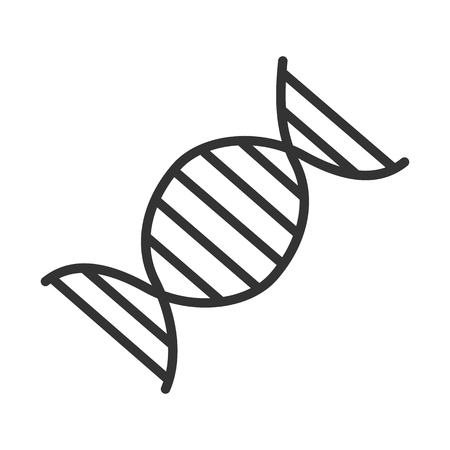 DNA molecule linear icon. Thin line illustration. Vector isolated outline drawing.