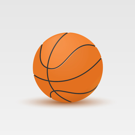 Vector illustration of Basketball isolated on a white background. Illustration