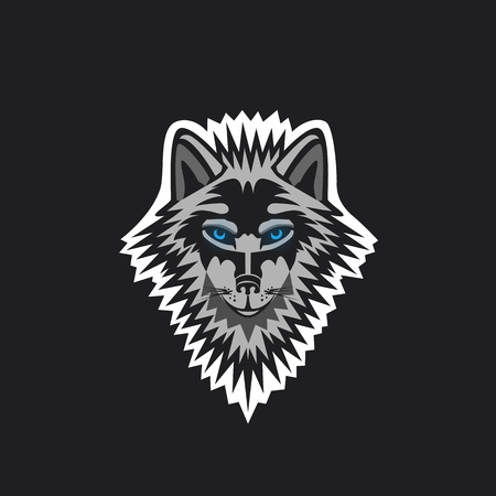 Modern professional wolf logo for a sport team.