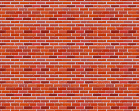 Seamless brown brick pattern isolated wall background. Vector illustration.