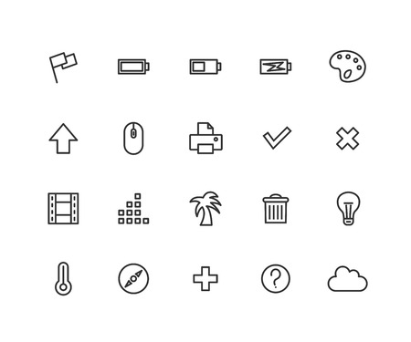 Universal Outline Icons For Web and Mobile. Editable vector stroke. 48x48 Pixel Perfect  イラスト・ベクター素材