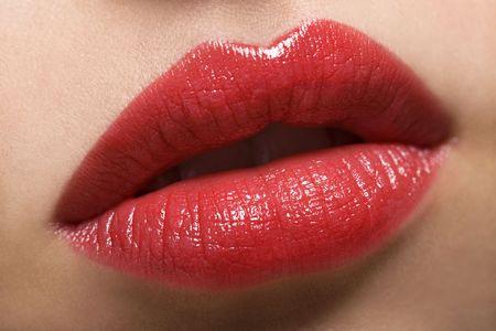 labios rojos: Labios rojos sexy