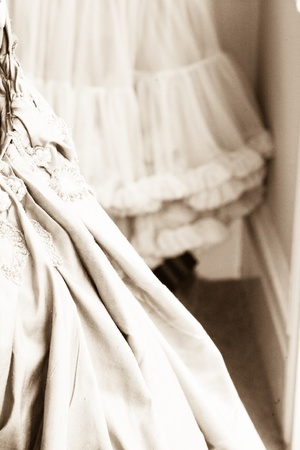 Frilly Petticoat Stock Photo