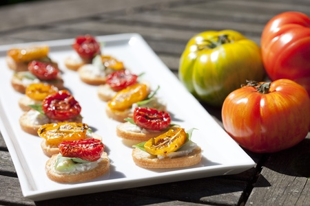Crostini with Vine Tomatoes