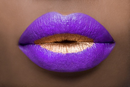 beso labios: Labios Regal Foto de archivo