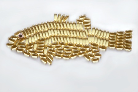 Fish Oil Capsules in a Fish Shape  photo