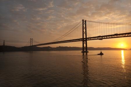 Lisbon Bridge and Statue of Jesus Christ (Cristo Rei) Stock Photo - 13376026