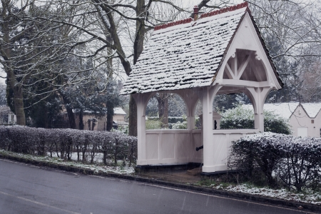Quaint Village Bus Shelter, Bedfordshire, England Stock Photo - 17405348