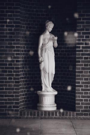 Roman Lady Statue photo
