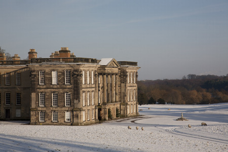 manor: Winter at Calke Abbey, Derbyshire Editorial