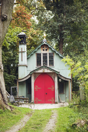 Llittle chappel with red door