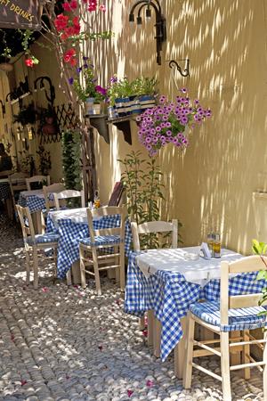Greek Restaurant Stock Photo