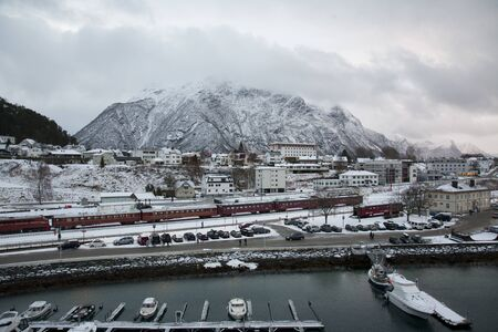 Port of Andalsnes, Norway in Winter - view from a Cruise Ship