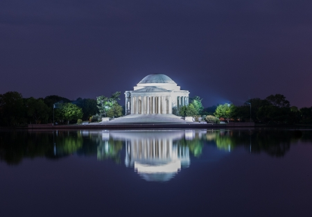 The Jefferson Memorial at night  photo
