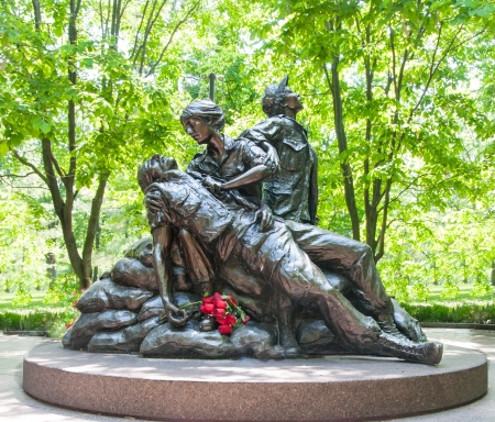 Statue Honoring Women Vietnam War Veterans