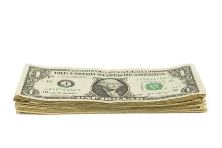 cuenta: Pila del billete de dólar