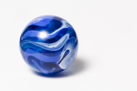 Blue Swirl Marble Stock Photo
