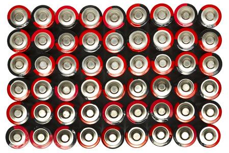 赤・黒の単3 形電池 写真素材