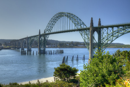 Newport Oregon Bridge 版權商用圖片 - 38686247