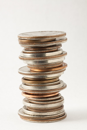 coin stack: Coin Stack Stock Photo
