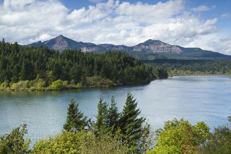 columbia: Columbia River Mountain Scenic Stock Photo