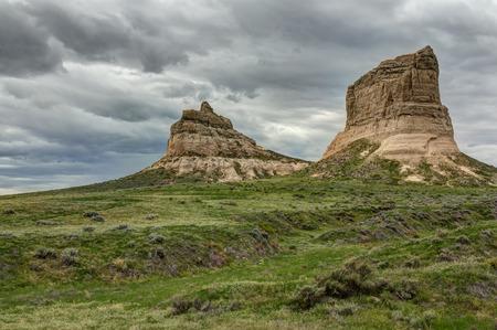 jailhouse: Rock Formations In Nebraska Stock Photo