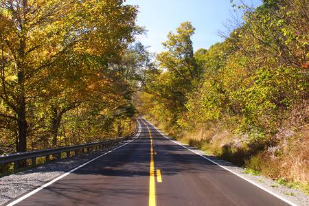 guard rail: Fall Highway Scenic