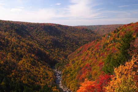 Fall Mountain Scenic Stock Photo