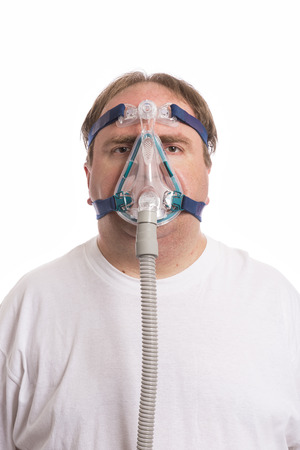 Sleep Apnea Man Stock Photo